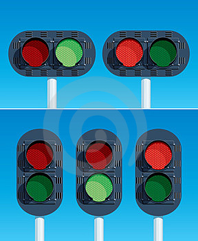 Railway Traffic Lights Stock Images - Image: 23405324