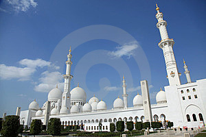 Grand Mosque National Landmark In Abu Dhabi Royalty Free Stock Image - Image: 23408646