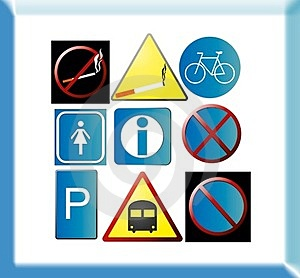 Sample Pictograms Royalty Free Stock Image - Image: 23412146