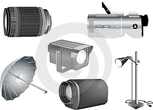 Isolated Studio Equipment Illustration Stock Photo - Image: 23412380