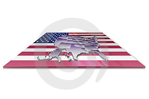 3D Map Of United States Of America Royalty Free Stock Image - Image: 23413066