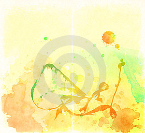 Colorful Watercolor Background Stock Photos - Image: 23414053