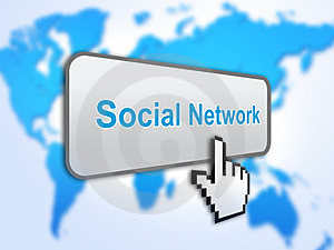 Social Network Button Royalty Free Stock Images - Image: 23414649