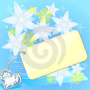 Card And White Flowers Stock Image - Image: 23419121