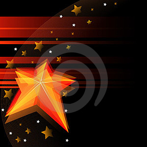 Black Background With Star Royalty Free Stock Photography - Image: 23419157