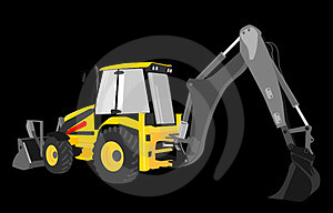 Digger Yellow  Royalty Free Stock Images - Image: 23425729