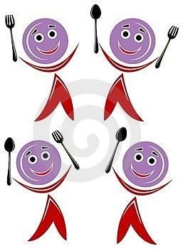 Dinning Set Cartoon Royalty Free Stock Photos - Image: 23437088