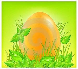 Egg On Grass Stock Image - Image: 23437771
