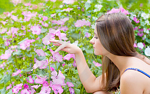 Girl With Flowers Stock Photography - Image: 23442692