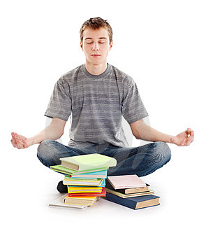 Teenager Meditates Stock Images - Image: 23442934