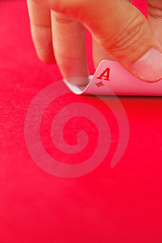 Hand Lifts The Card Royalty Free Stock Images - Image: 23445079