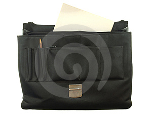 Old Black Briefcase With Sheets Of Old Paper Stock Images - Image: 23446104