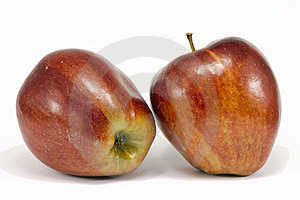 Two Ripe Red Apples Stock Image - Image: 23460611