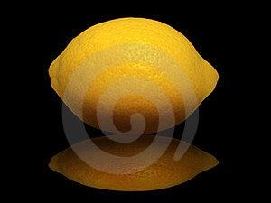 Lemon On A Black Background Stock Photo - Image: 23466560