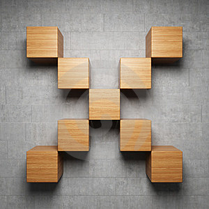Empty Shelf Of The Cubes Stock Images - Image: 23468174