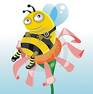 A Happy  Thick Bee Royalty Free Stock Photography - Image: 23468287