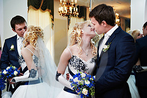 Kissing Bride And Groom Royalty Free Stock Photo - Image: 23472915