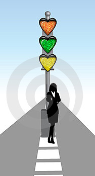 Lady With Love Signal Stock Photos - Image: 23477603