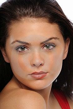 Young Brunette Woman Portrait Stock Photos - Image: 23483593