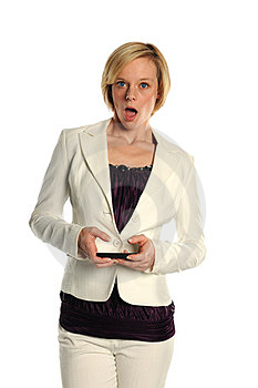 Young Businesswoman Text Stock Photography - Image: 23483612