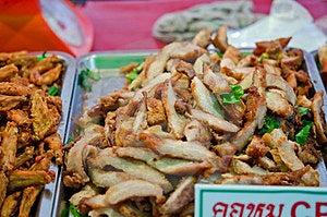 Pile Of Fried Pork's Neck Royalty Free Stock Photo - Image: 23484565