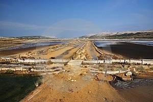 The Old Salt Pans Of Pag Stock Image - Image: 23484611