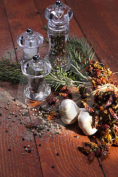 Salt And Pepper Mill Royalty Free Stock Photography - Image: 23488327