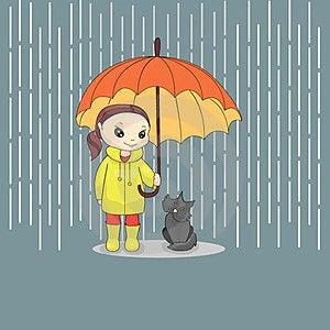 Girl With Cat Stock Photos - Image: 23491633
