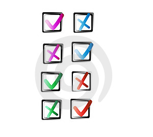Check Buttons Royalty Free Stock Photos - Image: 23491668