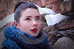 Pretty Cute Surprised Woman Portrait Stock Photos - Image: 23492433
