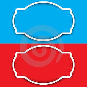 Vector Set Of Frame Colored Blue And Red Royalty Free Stock Photo - Image: 23492495