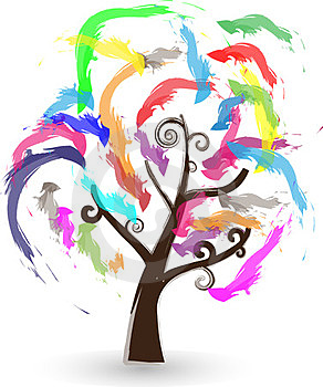 Colorful Tree Stock Photos - Image: 23496893