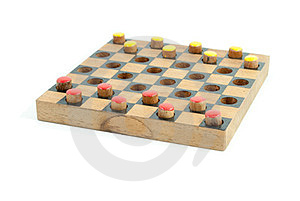 Checker Yellow And Red Side View Stock Image - Image: 23498011