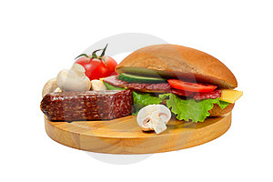 Sandwich On Cutting Board Royalty Free Stock Photos - Image: 23498488