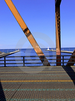 View Through Lift Bridge   Stock Photo - Image: 2351130
