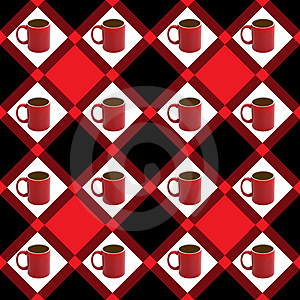 Seamless Coffee Royalty Free Stock Images - Image: 2352719