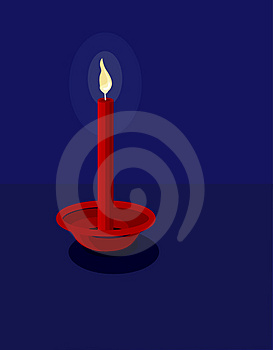 Romantic Red Candle Stock Photo - Image: 2355550