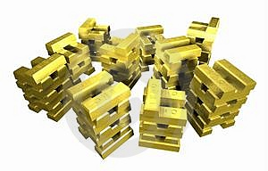 Gold_stack_5A Stock Image - Image: 2356181
