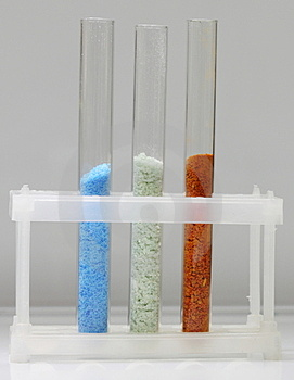 Tubes With Various Crystals Stock Images - Image: 23500214