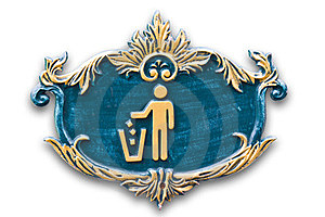 Litter Sign On The Bin Royalty Free Stock Photos - Image: 23505998