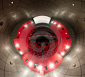 A 360 Degrees Panorama Of Cinema Hall Royalty Free Stock Images - Image: 23510859