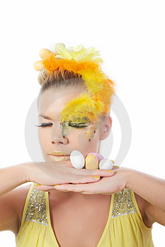 Easter Girl Royalty Free Stock Image - Image: 23512946