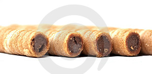Chocolate Wafer Rolls Royalty Free Stock Photography - Image: 23513807