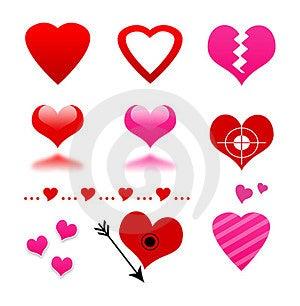 Heart Set Stock Photo - Image: 23515230