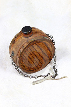 Wood Flask Royalty Free Stock Images - Image: 23520979