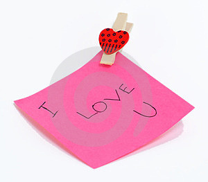Nota Do Amor Imagens de Stock Royalty Free - Imagem: 23522509