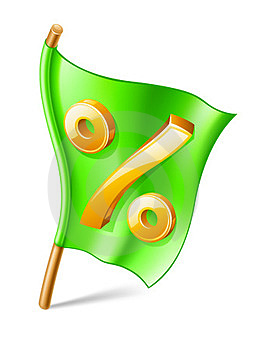 Percent Sign On Flag Stock Image - Image: 23523881