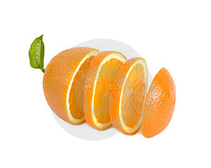 Round Lobules Of Orange Stand In One Row Stock Photos - Image: 23529853