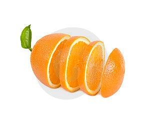 Round Lobules Of Orange Stand In One Row Stock Photos - Image: 23529853