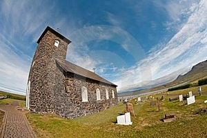 Stone Church In Iceland Stock Photo - Image: 23529900